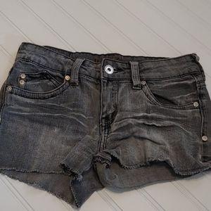Ultra Love gray wash shorts
